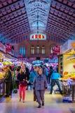 Mercado central em Valência Fotografia de Stock Royalty Free