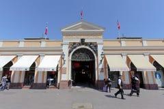 Mercado Central entrance, Santiago stock image