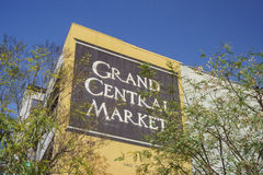 Mercado central grande Imagens de Stock