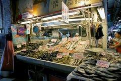 Mercado central i Santiago de Chile, Chile Arkivfoto