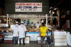 Mercado central i Santiago de Chile, Chile Fotografering för Bildbyråer