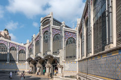 Mercado central i Valencia, Spanien Arkivfoto