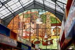 Mercado central Malaga Arkivbild