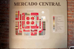 Mercado Central in Santiago de Chile, Chile Stock Photo
