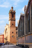 Mercado Central and  Santos Juanes Church in Valencia Royalty Free Stock Photos