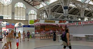 Mercado Central In Valencia stock video footage