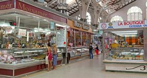 Mercado Central In Valencia stock footage