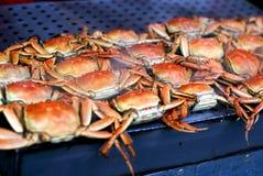 Mercado chinês do alimento - caranguejos Fotos de Stock Royalty Free
