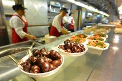 Mercado chino de la comida en Shangai China Foto de archivo