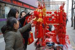 mercado chino del Año Nuevo 2013 en Chengdu Imágenes de archivo libres de regalías