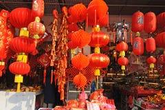 Mercado chino del Año Nuevo en Shangai Fotografía de archivo