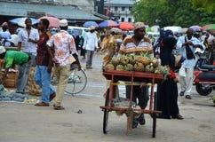Mercado, cidade de pedra, Zanzibar imagens de stock royalty free