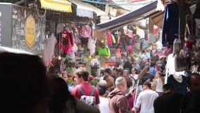 Mercado colorido aglomerado video estoque