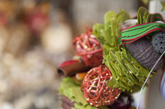Mercado colorido de la Navidad en Budapest Imágenes de archivo libres de regalías