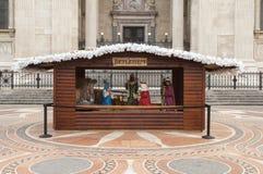 Mercado colorido de la Navidad en Budapest Fotografía de archivo