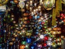 Mercado colorido de las luces Fotos de archivo libres de regalías