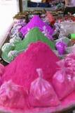 Mercado colorido del color en Holi festival-3 fotografía de archivo libre de regalías