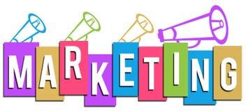 Mercado com os altifalante na parte superior Imagem de Stock Royalty Free