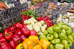 Mercado com vegetal Imagens de Stock