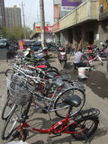 Mercado comercial de la bicicleta Imagenes de archivo