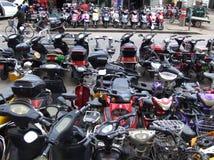 Mercado comercial de la bicicleta eléctrica Fotografía de archivo libre de regalías
