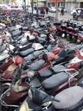 Mercado comercial de la bicicleta eléctrica de la segunda mano Imágenes de archivo libres de regalías