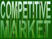 Mercado competitivo ilustração stock