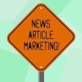 Mercado conceptual do artigo noticioso da exibição da escrita da mão Foto do negócio que apresenta para escrever e emitir artigos ilustração do vetor