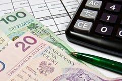 Mercado - contabilidade Imagens de Stock Royalty Free