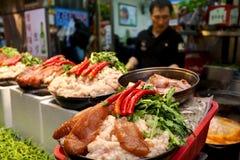 Mercado coreano tradicional Imagens de Stock Royalty Free