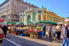 Mercado croata do fazendeiro da costa fotos de stock