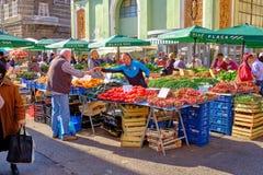 Mercado croata do fazendeiro da costa fotos de stock royalty free