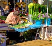 Mercado croata do fazendeiro da costa imagens de stock royalty free