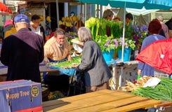 Mercado croata do fazendeiro da costa imagem de stock royalty free