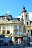 Mercado cuadrado en Sibiu, capital europea de la cultura por el año 2007 Fotos de archivo libres de regalías
