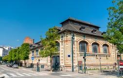Mercado cubierto central en Rennes, Francia foto de archivo libre de regalías