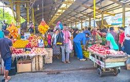 Mercado cubierto en Colombo Fotos de archivo