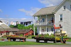 Mercado da borda da estrada de Amish imagens de stock royalty free