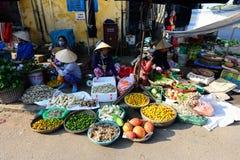 Mercado da cidade antiga de Hoian Fotografia de Stock