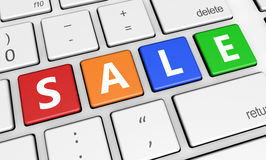 Mercado da compra da Web da venda Imagem de Stock