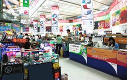 Mercado da eletrônica foto de stock