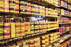 Mercado da exposição da lata Foto de Stock