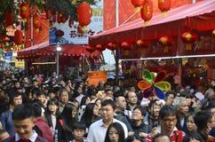 Mercado 2017 da flor do jasmim de inverno de Guangzhou Foto de Stock