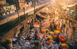 Mercado da flor, India Fotografia de Stock Royalty Free