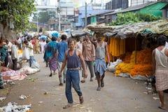 Mercado da flor, Kolkata, Índia Imagens de Stock