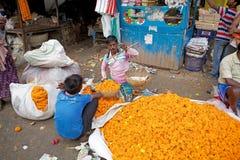 Mercado da flor, Kolkata, Índia Foto de Stock