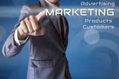 Mercado da imprensa do homem de negócios do negócio conceptual imagem de stock