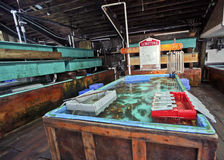 Mercado da lagosta Imagens de Stock