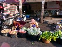 Mercado da manhã em Danok Fotos de Stock Royalty Free