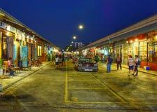 Mercado da noite Fotografia de Stock Royalty Free
